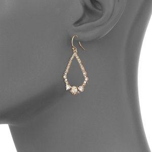 🆕ALEXIS BITTAR Gold Spiked Tear Crystal Earrings